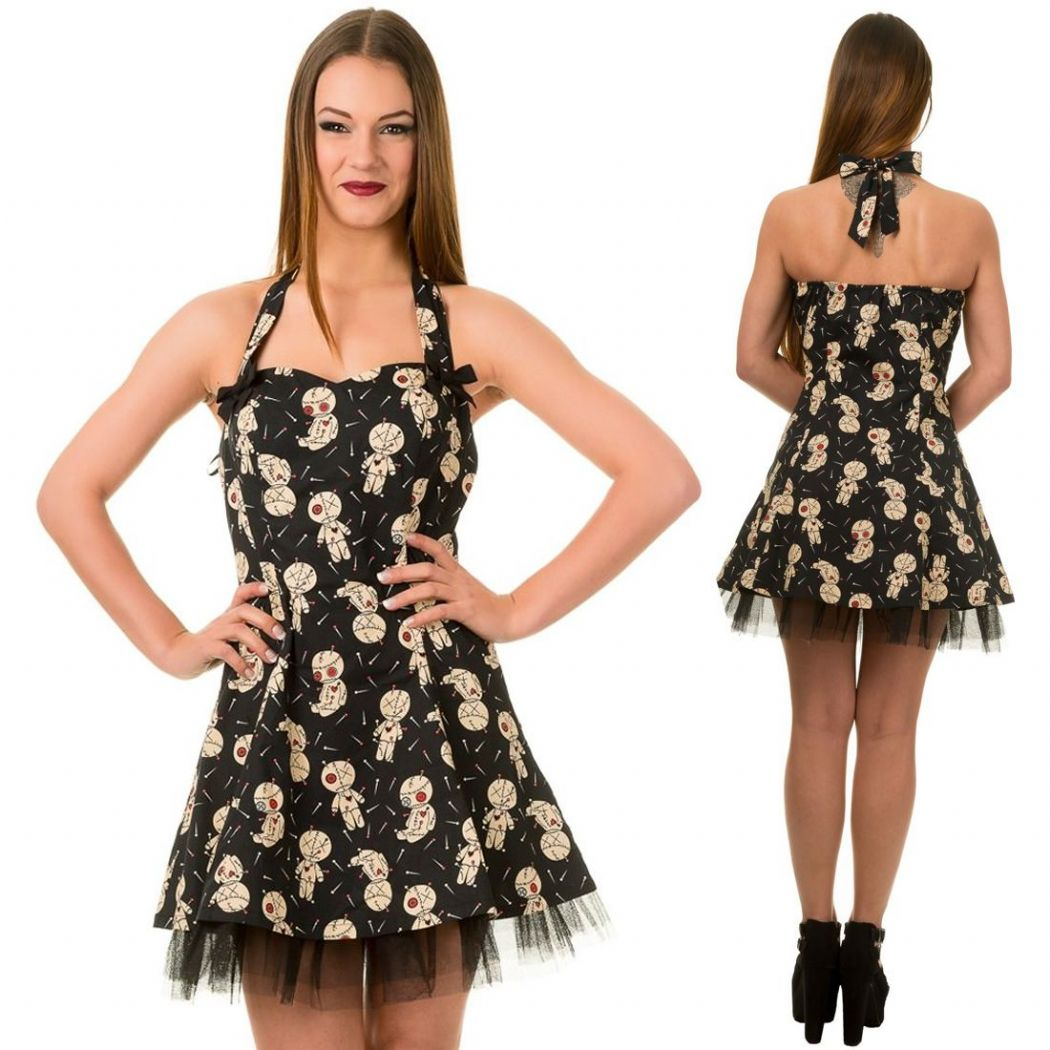 BANNED Ladies Gothic Voodoo Short Dress